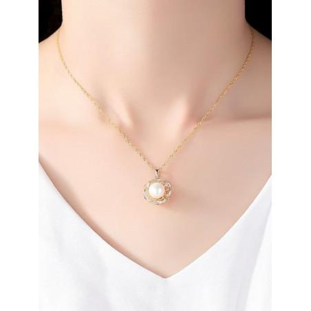 Pendientes colgantes de perlas de agua dulce