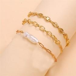 Pulsera de perlas blancas cultivadas en agua dulce