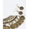 Conjunto de collar estilo monedas antiguas