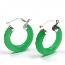 Pendientes imitación jade