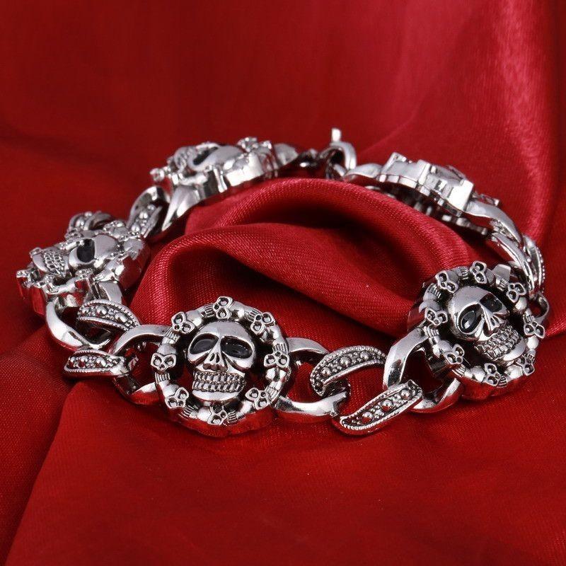 Pulsera Skull Flores