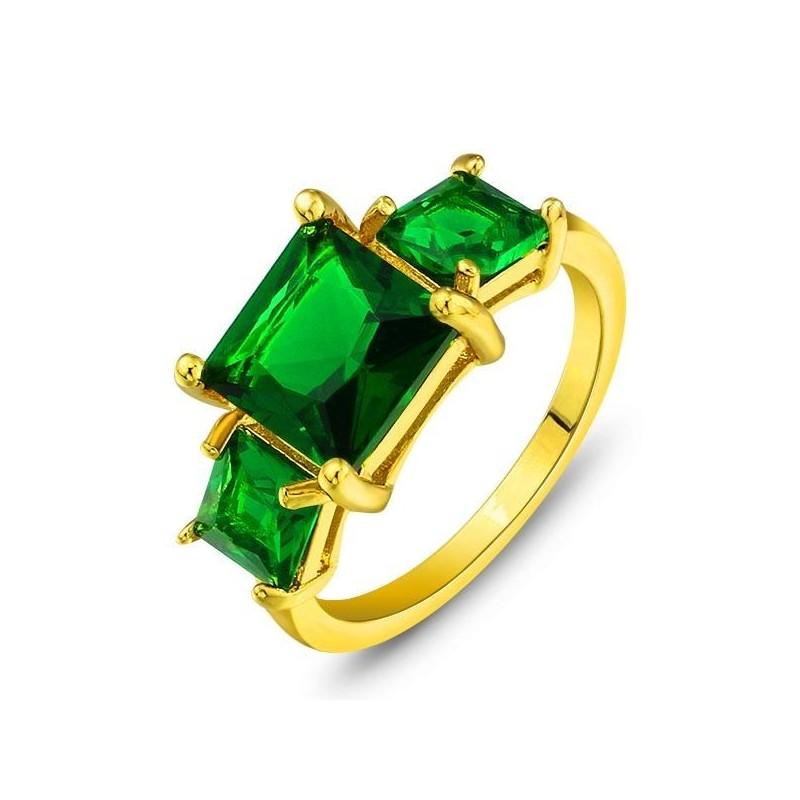 anillos de oro con esmeraldas