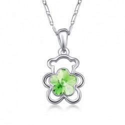 Collar con cristal verde para mujer