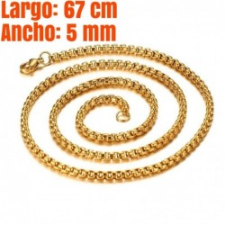 Collar de acero inoxidable dorado