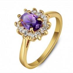 Anillos de mujer con piedra púrpura