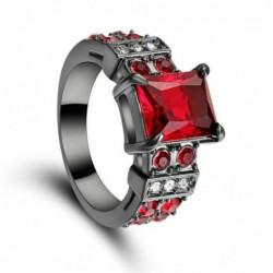 Anillo Vintage rubi rojo-Talla 14
