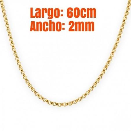 Cadena de oro chapado de 14 k