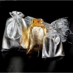 Lote de Bolsas doradas y plateadas para regalos-10 ud - 9X12 cm