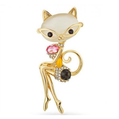 Broche de dama - el gato