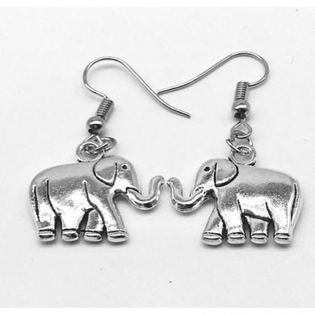 Pendientes con elefantes