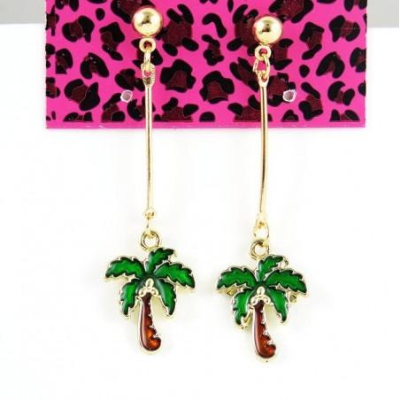 Pendientes con palmeras