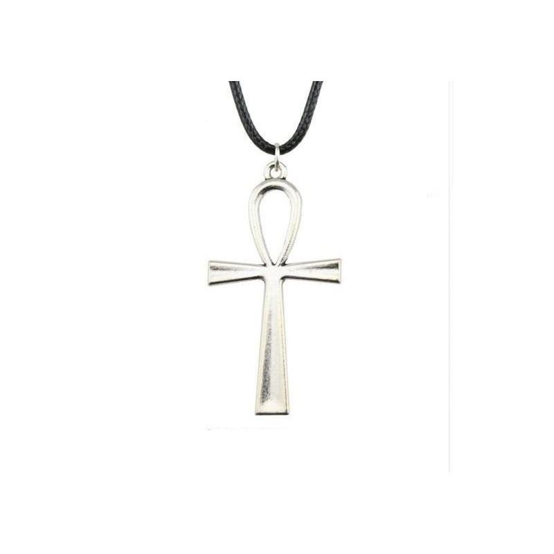 Collar con cruz egipcia