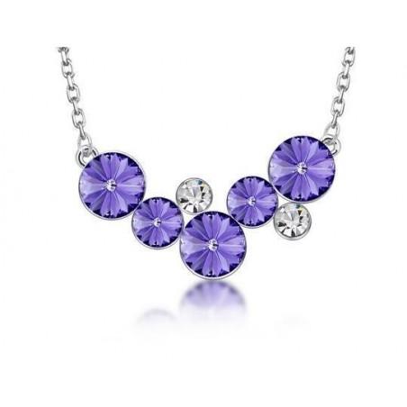 Collar Las 5 piedras púrpuras