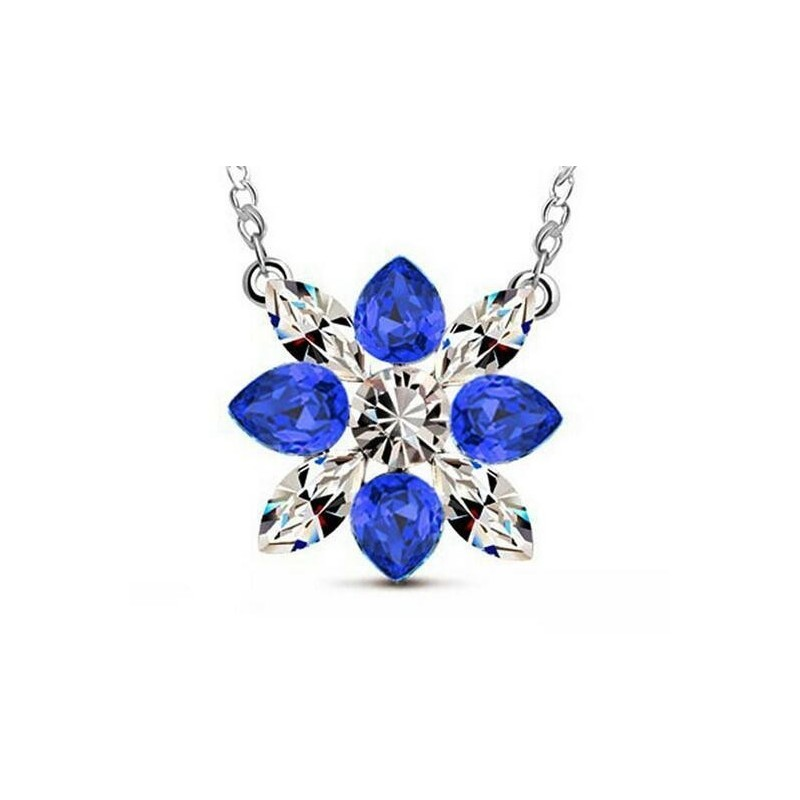 Collar Ls Flor Azul