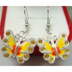 Pendientes de mujer Mariposa amarilla (sin caja)