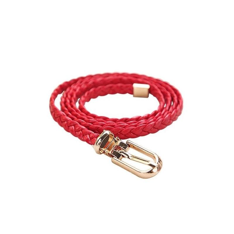 Cinturón trenzado rojo de 105cm