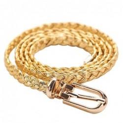Cinturón trenzado dorado de 105cm
