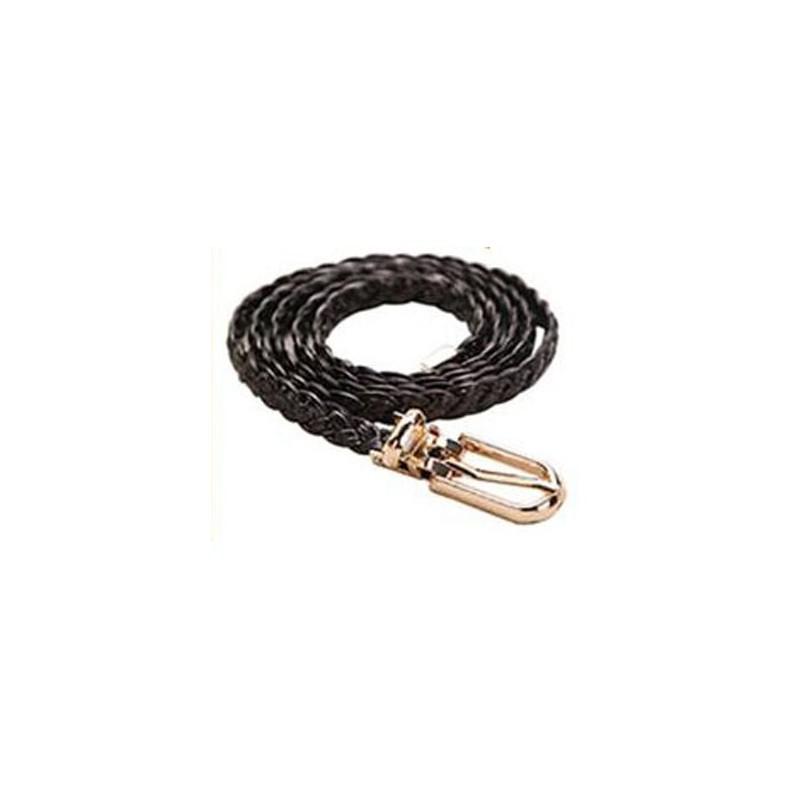 Cinturón trenzado negro de 105cm