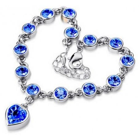 Pulsera de mujer con corazones azules