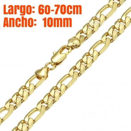 Cadena chapada en oro 18 k de 10mm - alta calidad