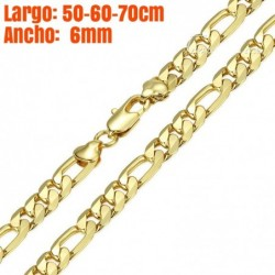 Cadena chapada en oro de 18k de 6mm