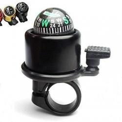 Brújula y timbre para bicicleta con anillo de manillar
