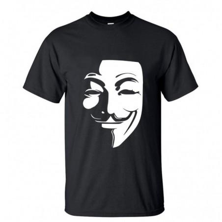 Camiseta Anonymus con V de Vendetta -