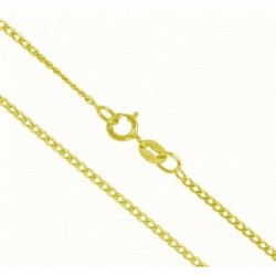 Cadena de oro 9 k-barbada-45cm-88grs.