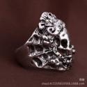 Anillo Skull de acero para hombre - Talla 18