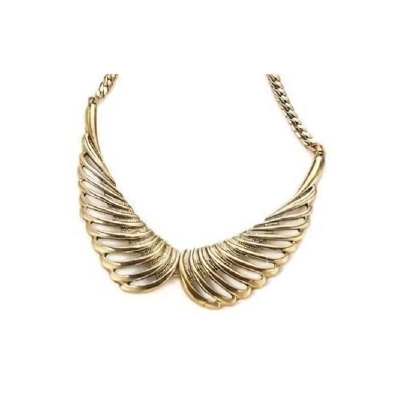Collar vintage tono dorado envejecido para mujer