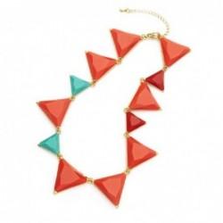Collar grande de mujer diseño de triángulos