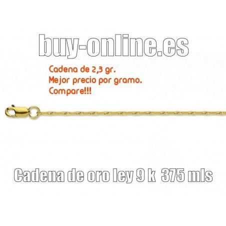 Cadena de oro 9k-Barley corn-45cm-2,30grs