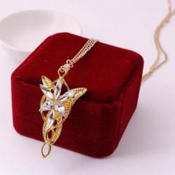 Collar bañado en oro con piedras para mujer (sin caja)