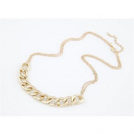 Collar con cadena dorada para mujer