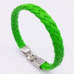 Brazalete simil piel color verde esmeralda