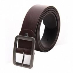 Cinturón simil piel marrón con hebilla metálica - 108cm