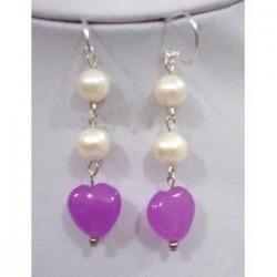 Blanco y púrpura
