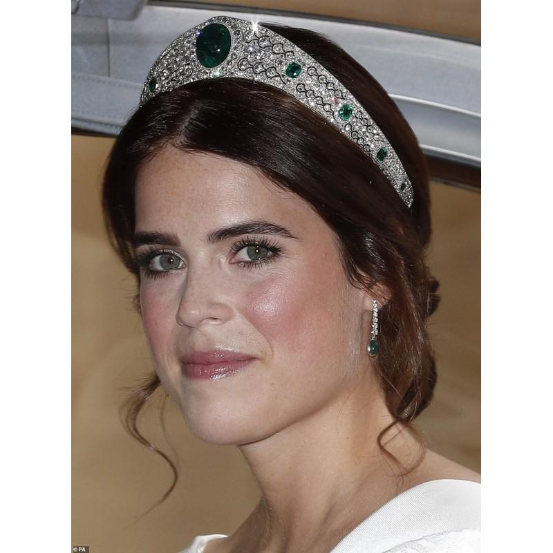 Tiara Greville que lució en su boda la Princesa Eugenie