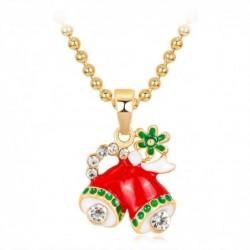 Collar esmaltado con símbolo navideño