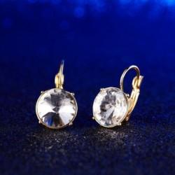 Pendientes chapados con piedra cristal