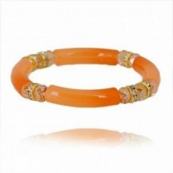 Pulsera elástica de color naranja