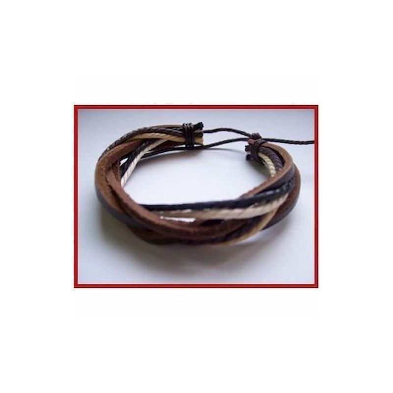 pulsera de cuero ajustable