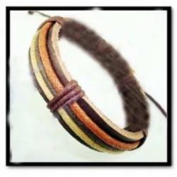 Pulsera africana de cuero
