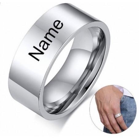 Anillos grabados para boda o promesa