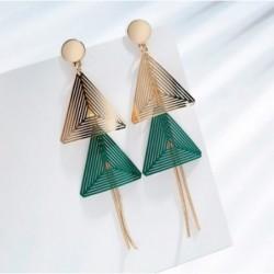 Pendientes geométricos con doble triángulo