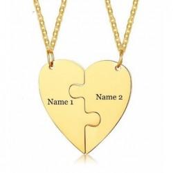 Dos collares grabados con nombre - amigas del alma