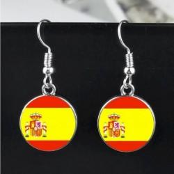 Pendientes con la bandera de España