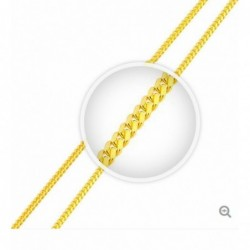 Cadena de plata 925 Vermeil 14 k - 2,6 mm -Made in USA