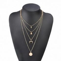 Collar dorado de varias cadenas