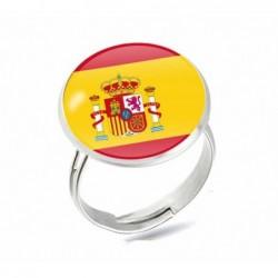 Anillo con la bandera de España ajustable